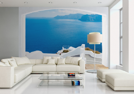 Santorini Greece coast wallpaper mural